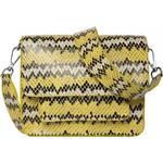 Handväskor Hvisk Cayman Snake Pocket - Yellow
