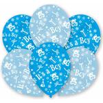 Latexballonger Amscan Latex Ballon All Round Printed Its A Boy Blue 6-pack