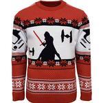 Numskull Star Wars Kylo Ren Christmas Jumper Unisex - Rich Red/Bold Black/Grey/White