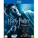 Harry potter filmer box Harry Potter 1-6 Box (Blu-Ray)