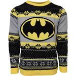 Numskull Batman Christmas Jumper Unisex - Yellow/Black/Grey