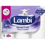 Toalett- & Hushållspapper Lambi Sensitive Toilet Paper 6-pack