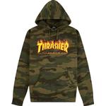 Herrkläder Thrasher Magazine Flame Logo Hoodie - Forest Camo