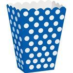 Popcornbägare Unique Party Popcorn Box Blue/White 8-pack