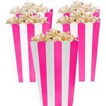 Popcornbägare Amscan Popcorn Box Pink/White 5-pack