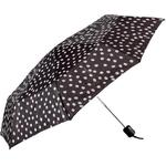 Billiga Paraplyer Fashinalizer Bag Umbrella with Polka Dots Black