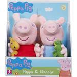 Greta Gris - Mjukisdjur Peppa Pig Gurli Pig Teddy Bear 2pcs