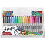 Markers Sharpie Fine Point Permanent Marker 1mm 20 Pack