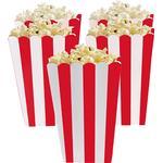 Popcornbägare Amscan Popcorn Box Red/White 5-pack