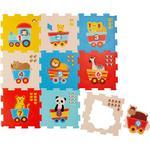 Golvpussel Bieco Animals & Numbers Puzzle Mat 9 Pieces