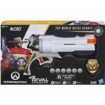 Nerf Overwatch McCree Rival Blaster with Die Cast Badge & Rival Rounds