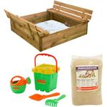 Nordic Play Active Sandpit with Bench & Lid with 240kg Sand