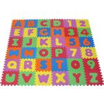 Golvpussel Knorr Puzzle Mat Alphabet with Numbers 36 Pieces