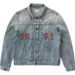 Ytterkläder Herrkläder Nudie Jeans Vinny Flower Embo - Mid Blue