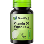 Great Earth Vitamin D3 Vegan 20µg 60 st