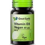 Great Earth Vitamin D3 Vegan 20µg 60 st