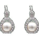 Långa örhängen Lily and Rose Emmylou Earrings - Silver/Pearl