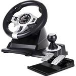 Tracer Roadster 4 in 1 Steering Wheel and Pedal Set - Black
