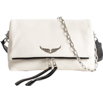 Axelremsväskor Zadig & Voltaire Rock Grained Bag - White