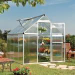 Fristående växthus - Polykarbonat Palram Mythos 4.6m² Aluminium Polycarbonate