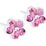 Stiftörhängen Blomdahl Flower Earrings - White/Light Rose