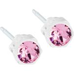 Stiftörhängen Blomdahl Skin Friendly Earrings - White/Light Rose