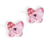 Stiftörhängen Blomdahl Butterfly Earrings - White/Light Rose