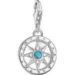 Thomas Sabo Charm Club Compass Charm Pendant - Silver/Turquoise