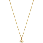 Georg Jensen Daisy Small Necklace - Gold/White