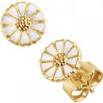 Georg Jensen Daisy Earrings - Gold/White