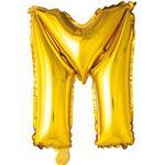 Baby - Guld Festprodukter Hisab Joker Foil Ballon Letter M Gold