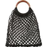 Väskor Pieces Crochet Net Bag - Black/Black