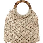 Väskor Pieces Small Crochet Handbag - Beige/Nature