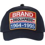 Kepsar Herrkläder DSquared2 Brand Patch Embroidered Baseball Cap - Dark Blue