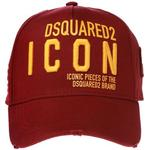 DSquared2 Icon-Embroidered Cap - Burgundy