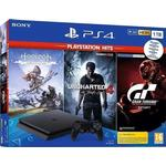 Sony PlayStation 4 Slim 1TB - Horizon Zero Dawn + Uncharted 4 + Gran Turismo Sport