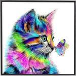 DIY Cute Colorful Cat Diamond Painting 30x30cm Poster