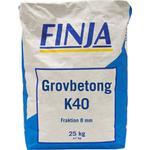 Cement 25kg Mark-, Murstenar & Bruk Finja Grovbetong K40 0-8mm 1000kg
