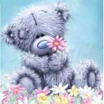 5D DIY Cartoon Bear Diamond Painting 30x30cm Poster