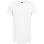 T-Shirts Herrkläder Urban Classics Long Shaped Turnup T-shirt - White
