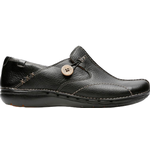 Loafers Clarks Un Loop - Black Leather