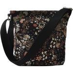 Handväskor Ceannis Black Mixed Flower Small Shoulder Bag - Dark Blue/Patterned