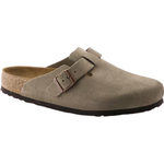 Birkenstock Boston Soft Footbed Suede Leather - Taupe