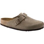 Utetofflor Birkenstock Boston Soft Footbed Suede Leather - Taupe