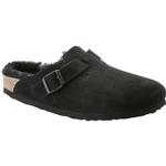 Utetofflor Birkenstock Boston Shearling Suede Leather - Black