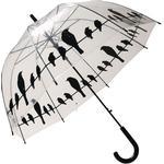 Esschert Design Birds on a Wire Clear Umbrella (TP166)