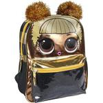 Skolväskor - Barnväska LOL Surprise Nursery Backpack - Black Golden