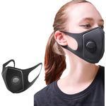 Svart - Munskydd & Andningsskydd PM2.5 Reusable Respirator Face Mask 5-pack