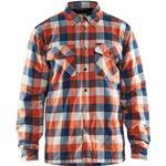 Blakläder Flannel Shirt - Navy/Orange