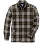 Jackor Herrkläder Carhartt Hubbard Sherpa Lined Plaid Flannel Shirt - Military Olive